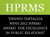 Dennis Tartaglia wins 2012HPRMS Award for Public Relations